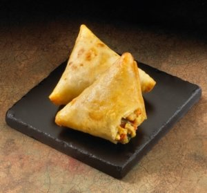 Chicken and Cheese Quesadilla Triangles